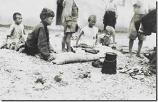 children in internment camp